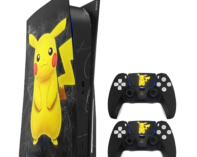 PS5 SKIN PIKACHU POKEMON vinyl protection for ps5 & dualsense ps5 console and controller