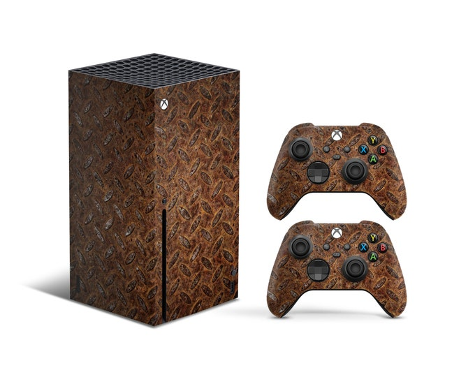 Skins Xbox Series X Rusty theme Full Body Cover and Controller