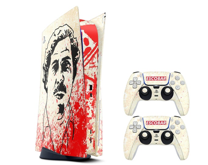 Pablo Escobar PS5 console SKIN - Vinyl Game Decal Skins - Waterproof Protective Full Body Ps5 Console Controller Skin  Theme Skin