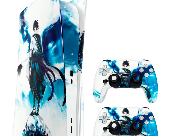 PS5 SKIN SASUKE UCHIHA vinyl protection for ps5 & dualsense ps5 console and controller