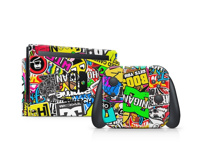STICKERBOMB Nintendo Switch Skin Protect Decal Vinyl Wrap