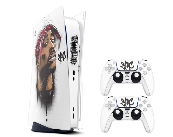 2PAC PS5 console SKIN - Vinyl Game Decal Skins - Waterproof Protective Full Body Ps5 Console Controller Skin  Theme Skin
