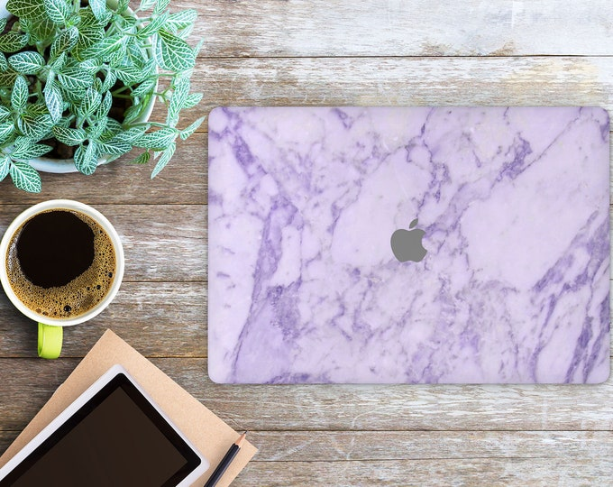 APPLE MACBOOK Purple Marble SKINS vinyl decal cover for all body laptop protection