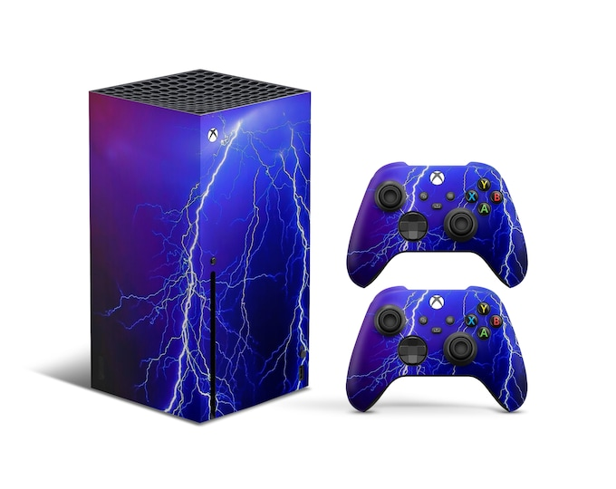 Skins Xbox Series X Thunder theme Full Body Cover and Controller