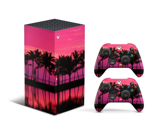 Skins Xbox Series X Miami theme Full Body Cover and Controller