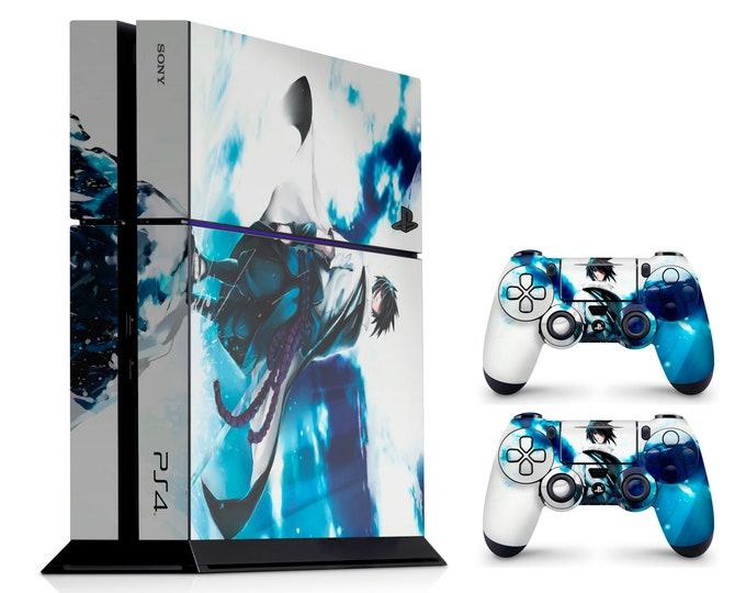 PS4 SKIN SASUKE UCHIHA for PS4 Fat PS4 Pro PS4 Slim & DualShock PS4 Controller Naruto