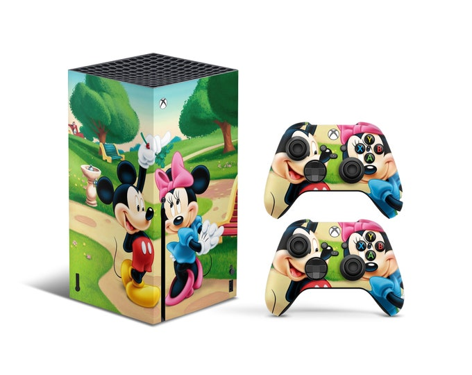 Skins Xbox Series X Mickey Mouse theme Full Body Cover and Controller