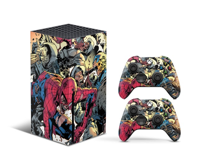 Skins Xbox Series X Heroes art theme Full Body Cover and Controller