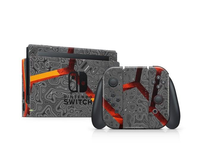 Nintendo Switch Skin Volcano motive vinyl decal protection