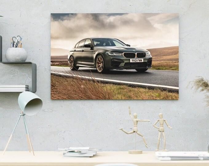 BMW M5 CS Car Canvas | Art Canvas | Wall Art Canvas | Framed Painting | Home Wall Decor | Bedroom Canvas | Canvas Printing Art | Canvas