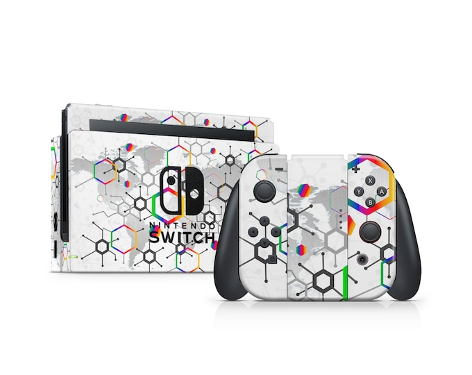 Abstract Motive Nintendo Switch Skin Protect Decal Vinyl Wrap