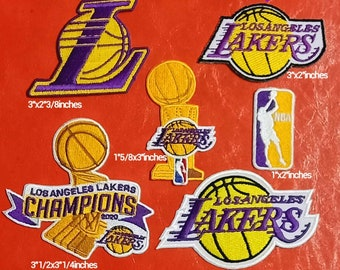 Los Angeles Lakers patches logo iron on sewing on clothes