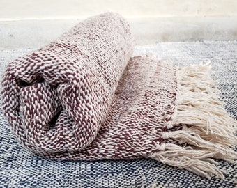 Natural Fiber Yoga Mat Made With Organic Indian Cotton And Natural Dyes Hand Woven Roll Up Pilates Mat