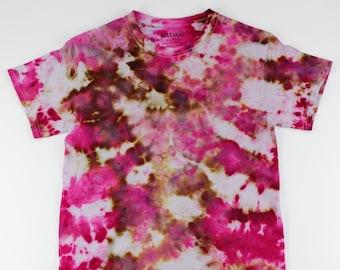Adult Small Cherry Truffle Crumple Ice Tie Dye Shirt