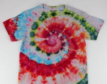 Adult Small Summer Time Watermellon Swirl Ice Tie Dye Shirt