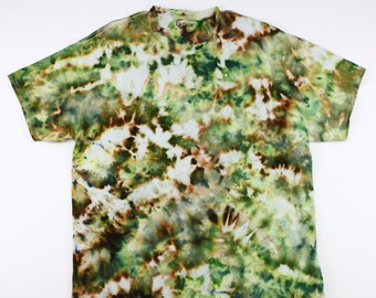 Adult XL Old Colors Camo Crumple Ice Tie Dye Shirt