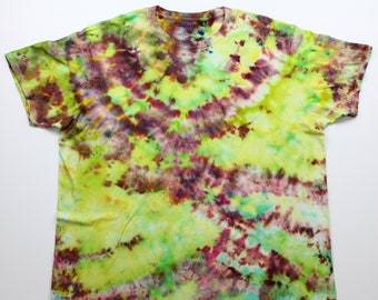 Adult 2XL All About the Reds and Greens Crumple Ice Tie Dye Shirt