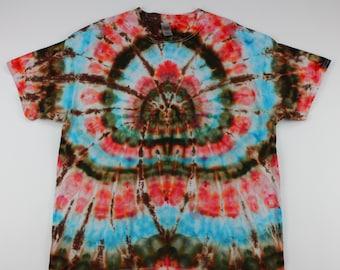 Adult XL Brown Spider Psyc Show Ice Tie Dye Shirt