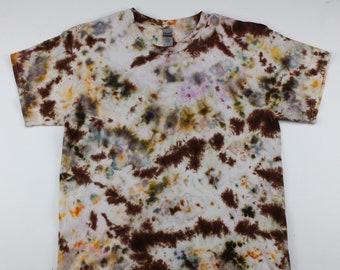 Adult Large Mini Cow Pattern Crumple Ice Tie Dye Shirt