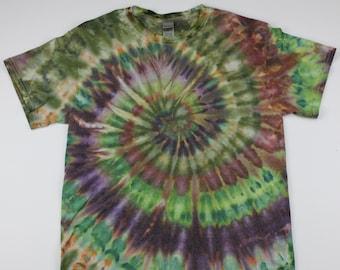 Adult Medium Dryblend Nature Swirl Ice Tie Dye Shirt