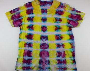 Adult 2XL Koy Pond Squares Ice Tie Dye Shirt