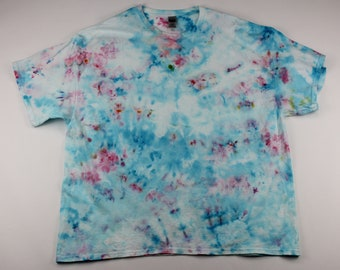 Adult 3XL Cotton Candy & Clouds Crumple Ice Tie Dye Shirt
