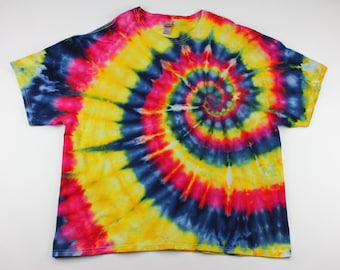 Adult 3XL Primary Swirl to the Heart Ice Tie Dye Shirt