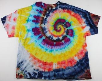 Adult 4XL Six Colors Swirl Ice Tie Dye Shirt