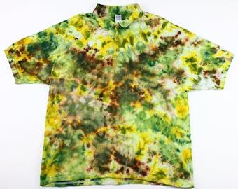 Adult 2XL Sun Through the Pine Forest Crumple Ice Tie Dye Shirt