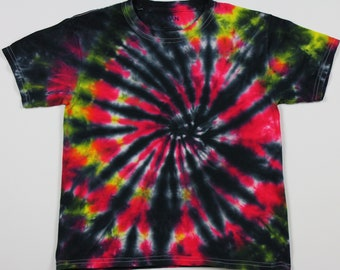 Youth Small Black Swirl Tie Dye Shirt