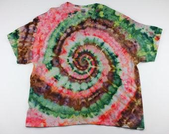 Adult 3XL Watermellon Swirl Ice Tie Dye Shirt