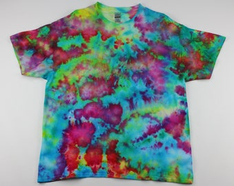 Adult XL Neon Fish Tank Crumple Ice Tie Dye Shirt