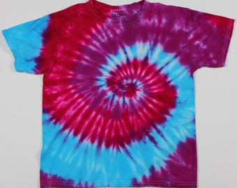 Youth Medium Turquoise & The Reds Tie Dye Shirt