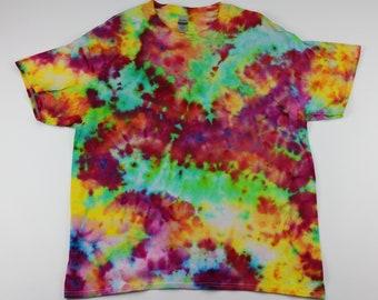 Adult XL Koy Pond Crumple Ice Tie Dye Shirt