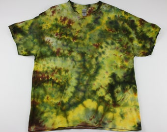 Adult XL In The Greens Crumple Ice Tie Dye Shirt