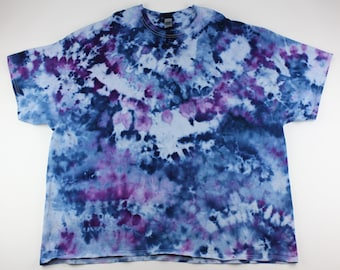 Adult 5XL Blueberries & Grapes Crumple Ice Tie Dye Shirt