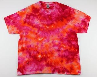 Adult XL Surface of the Sun Crumple Ice Tye Dye Shirt