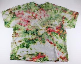 Adult 4XL Crumpled Melon Ice Tie Dye Shirt