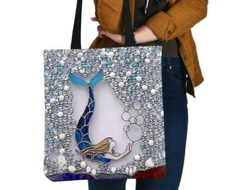 batik fabric mermaid shoulder bag