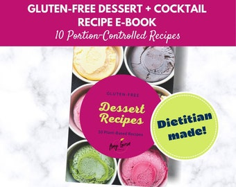 Gluten Free Meal Plan Download for Dessert + Cocktails   Printable Recipe Book   Meal Planner   Plant Based Family Recipes   Sweet Treats