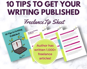 10 Tips to Become a Published Freelance Writer Download   Author Writing Printable   Blogger Tips   Social Media   Media Personality