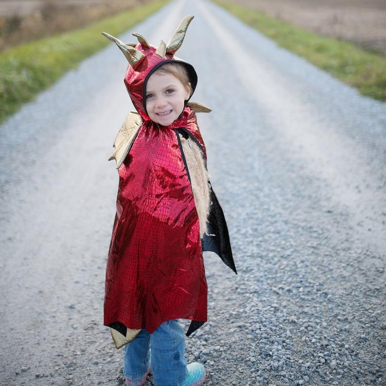 pretend play dressup kids dragon costume kids dressup Red dragon costume cape