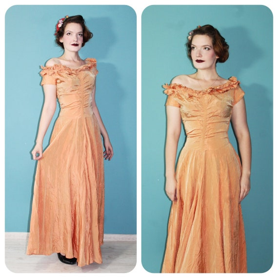 Real Vintage 1940s Evening Gown