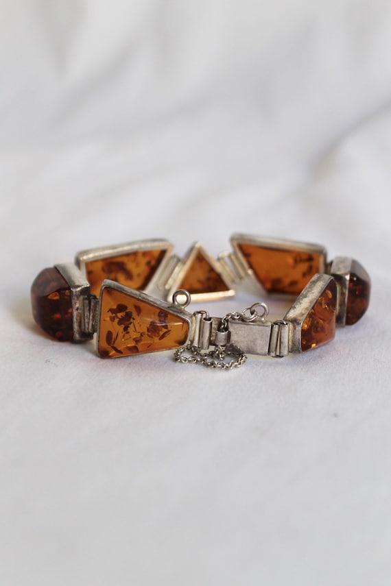 Geometric Amber Bracelet