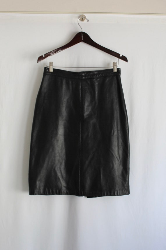 Leather Pencil Skirt - Size 8