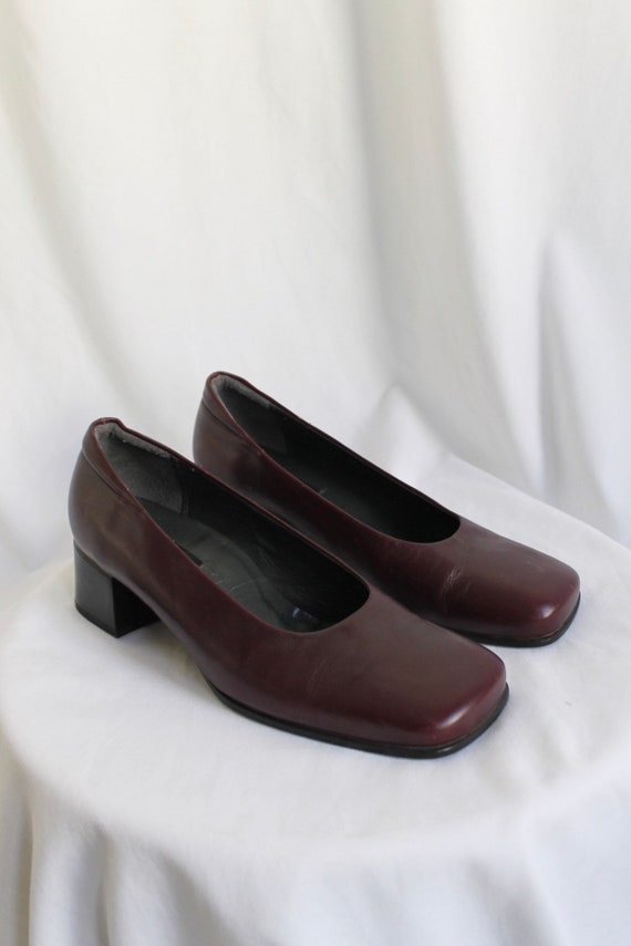 Purple Leather Mary Janes - Size 5.5 (UK)