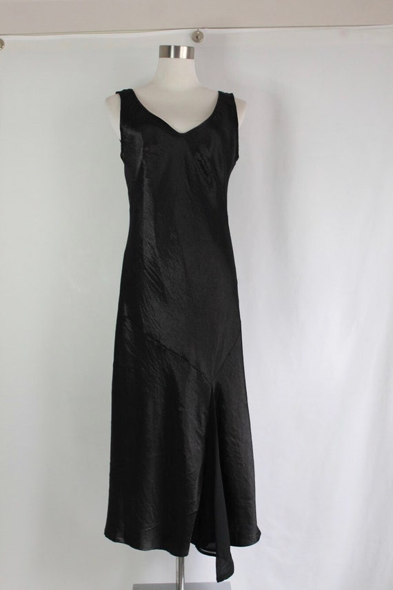 Asymmetrical Satin Slip Dress - Size M
