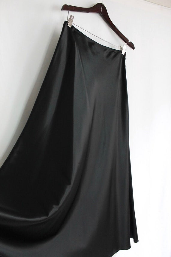 Satin Maxi Skirt - Size 8