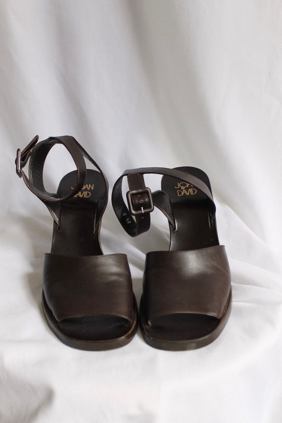 Joan & David Brown Leather Heels - Size 8.5