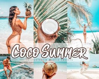 10 COCO BEACH SUMMER Lightroom Mobile Presets | Instagram Influencer preset, Travel Blogger Filter, Best Presets, Photo Filters